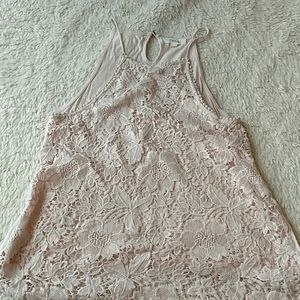 Taylor & Sage Lace Front Tank Top